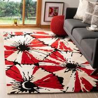 Safavieh Handmade Soho Red New Zealand Wool Rug - 5' x 8'