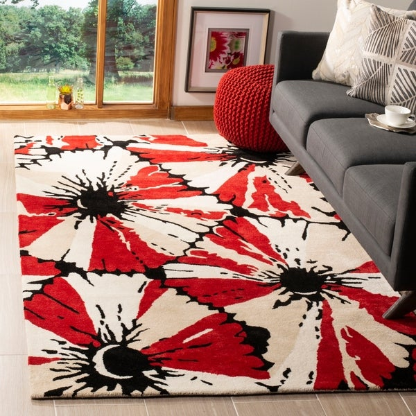 Safavieh Handmade Soho Red New Zealand Wool Rug - 5' x 8'