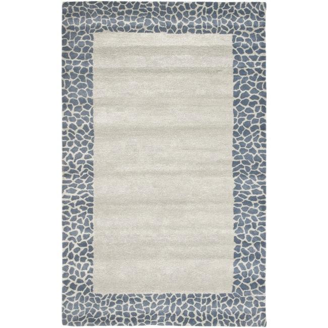 Safavieh Handmade Soho Silver New Zealand Wool Rug - 7'6 x 9'6