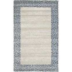 Safavieh Handmade Soho Silver New Zealand Wool Rug - 7'6 x 9'6 - Thumbnail 0