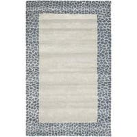 Safavieh Handmade Soho Silver New Zealand Wool Rug - 7'6 x 9'6