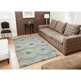 Safavieh Handmade Soho Zen Grey/ Ivory New Zealand Wool Rug (9'6 x 13'6)