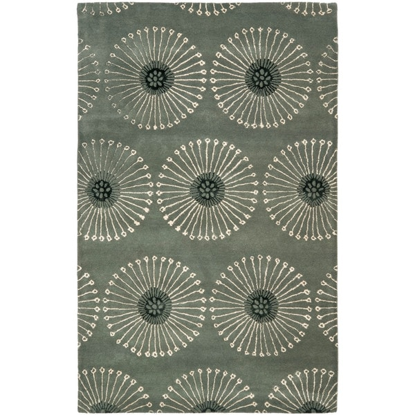 Safavieh Handmade Soho Zen Grey/ Ivory New Zealand Wool Rug - 9'6 x 13'6