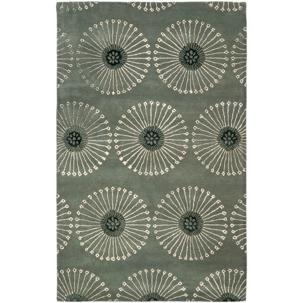 Safavieh Handmade Soho Zen Grey/ Ivory New Zealand Wool Rug (8'3 x 11')