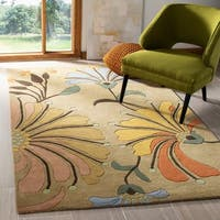 Safavieh Handmade Soho Gold/ Multi New Zealand Wool Rug - 5' x 8'