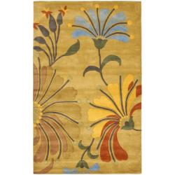 Safavieh Handmade Soho Gold/ Multi New Zealand Wool Rug (7'6 x 9'6)