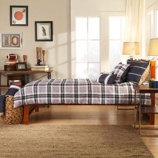 TRIBECCA HOME Simone Mahogany Twin-size Captain Bed