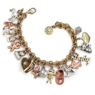 Sweet Romance Vintage Baby Mother Charm Bracelet|https://ak1.ostkcdn.com/images/products/5822428/P13538814.jpg?impolicy=medium