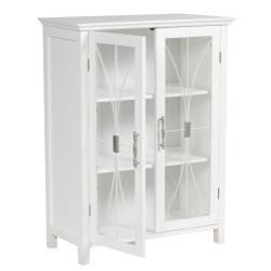 Veranda Bay White Floor Cabinet by Elegant Home Fashions