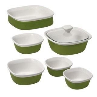CorningWare Etch Grass 7-piece Bakeware Set