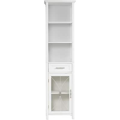 Veranda Bay White Linen Tower by Elegant Home Fashions
