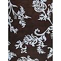Alliyah Handmade New Zeeland Blend Brown Floral Wool Rug - 8' x 10'