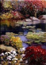 Kent Wallis 'Garden Pond' Gallery-wrapped Canvas Art