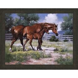 Jack Sorenson 'Horse and Colt' Framed Canvas Art