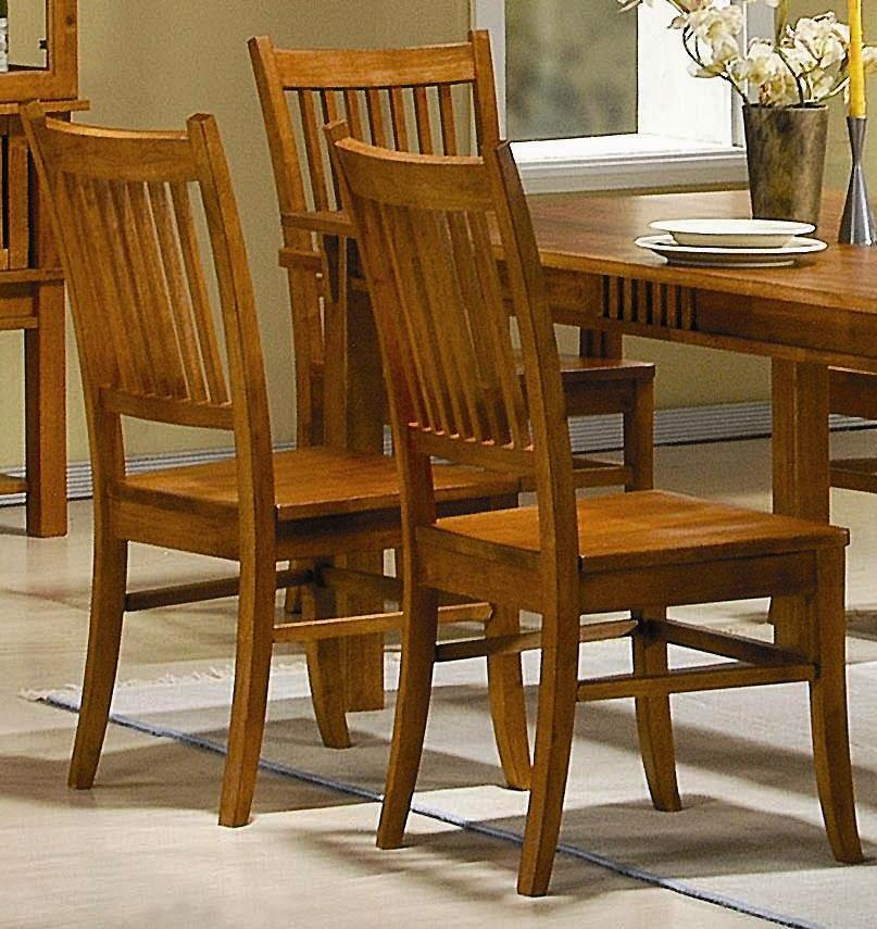 Angelica Mission Country Style Dining Chairs (Set of 2) - Thumbnail 0