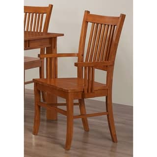 Angelica Mission Country Style Arm Chairs Set Of 2