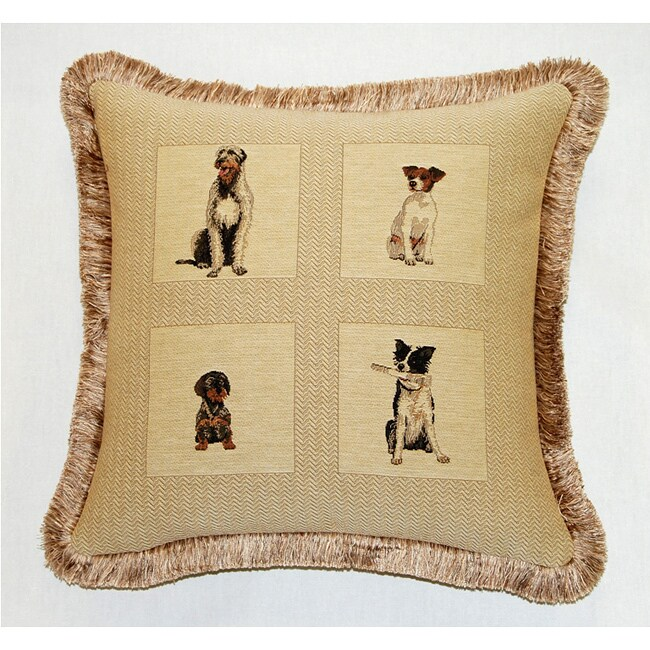 Corona Decor French Woven Feather And Down Filled Dogs