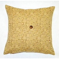 Corona Decor Italian Feather and Down Fill Woven Fabric Square Decorative Pillow