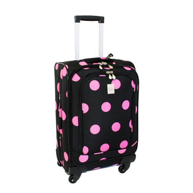 Jenni Chan Black/ Pink Dots 360 Quattro 21-inch Carry-On Spinner Upright