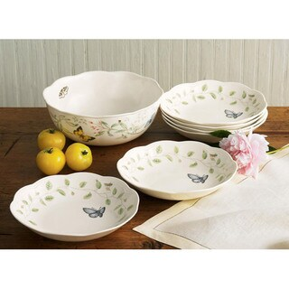 Lenox Butterfly Meadow 7-piece Pasta/ Salad Set