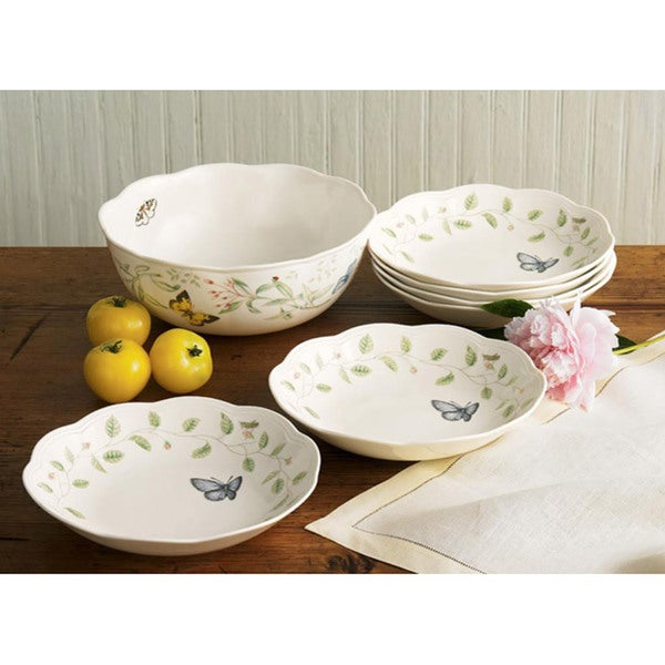 Shop Lenox Butterfly Meadow 7 Piece Pasta Salad Set
