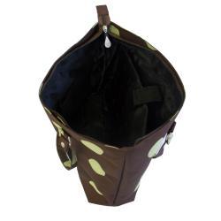 Jenni Chan Women's Green/Brown Dots Laptop Tote Bag - Thumbnail 2