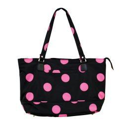 Jenni Chan Women's Black/Pink Dots Laptop Tote Bag