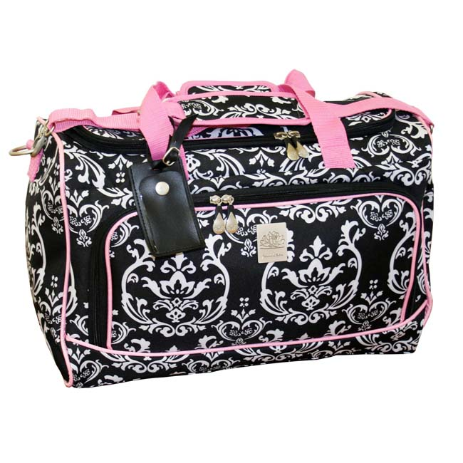 Jenni Chan Damask City 18 Inch Carry On Lined Duffel Bag with ...