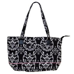 Jenni Chan Damask Compartmented Laptop Tote with Hook and Loop Lock