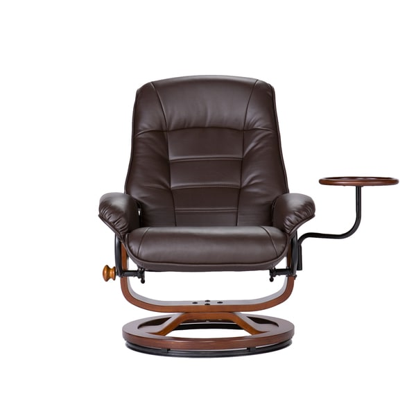 Harper Blvd Windsor Brown Leather Recliner and Ottoman Set - Free Shipping Today - Overstock.com - 13543928  sc 1 st  Overstock.com & Harper Blvd Windsor Brown Leather Recliner and Ottoman Set - Free ... islam-shia.org