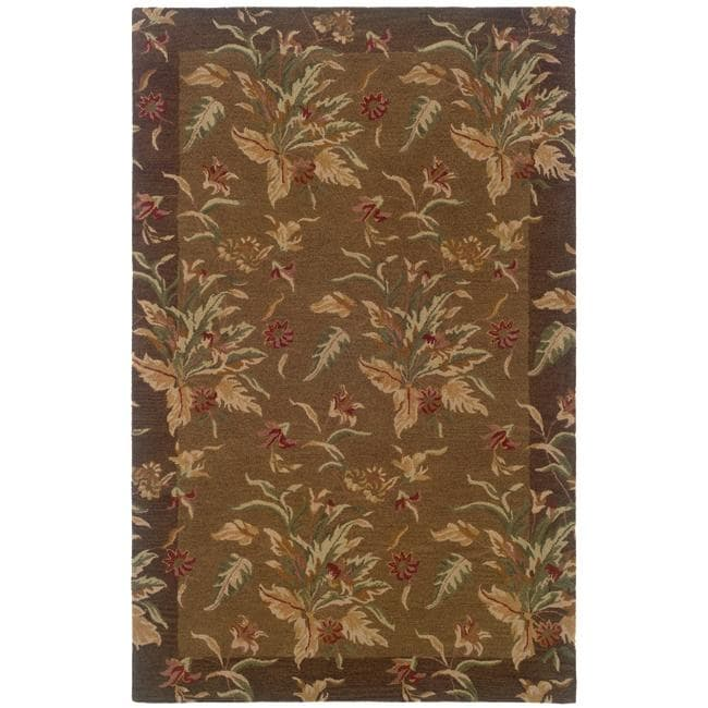 Hand-tufted Botanical Wool Area Rug (8' x 10') - 8' x 10'