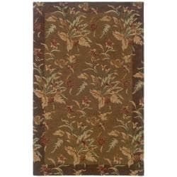 Hand-tufted Botanical Wool Area Rug (8' x 10') - 8' x 10' - Thumbnail 0
