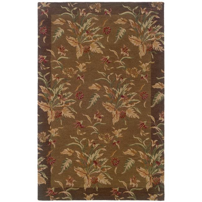 Hand-tufted Botanical Wool Area Rug (5' x 8')