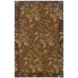 Hand-tufted Botanical Wool Area Rug (5' x 8')