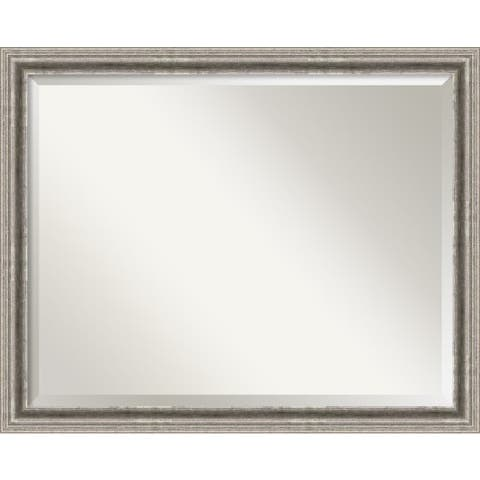 Wall Mirror, Bel Volto Silver - Silver/Black