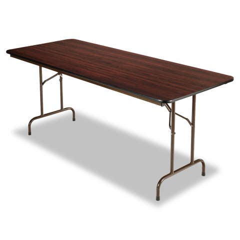 Alera Brown Folding Rectangle Table (72x30) - 72 x 30 x 29