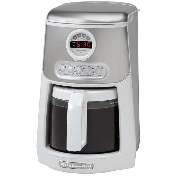 KitchenAid KCM534WH White 14-cup JavaSpa Showerhead Programmable Coffee  Maker