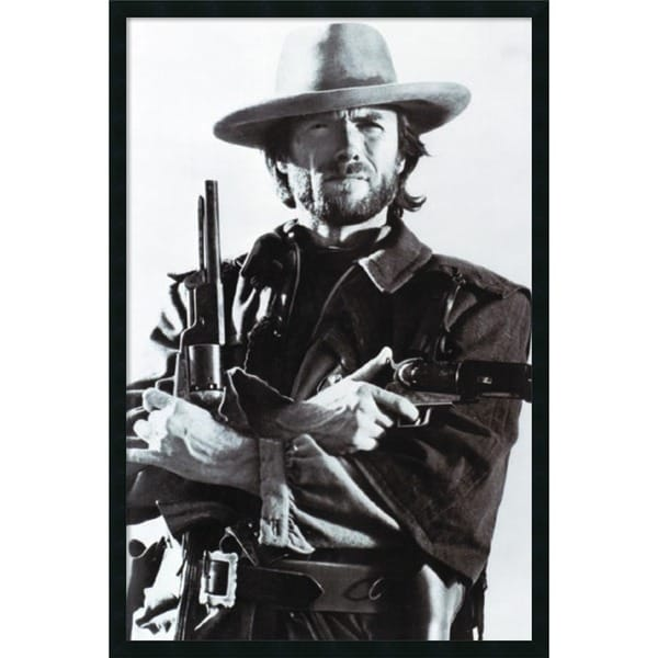 'Clint Eastwood' Framed Art Print With Gel Coated Finish
