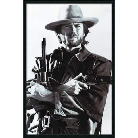 Framed Art Print Clint Eastwood 26 x 38-inch