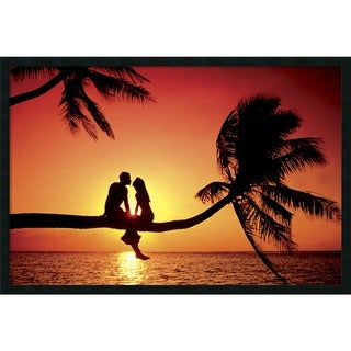 'Summer Love' 37 x 25-inch Framed Art Print with Gel Coated Finish