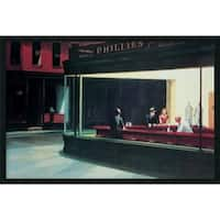 Framed Art Print Nighthawks, 1942 by Edward Hopper 38 x 26-inch