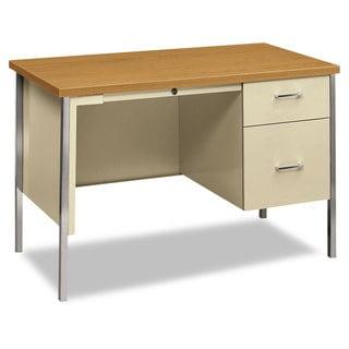 Link to HON 34000 Series Right Pedestal Desk, Harvest/Putty Similar Items in Computer Desks