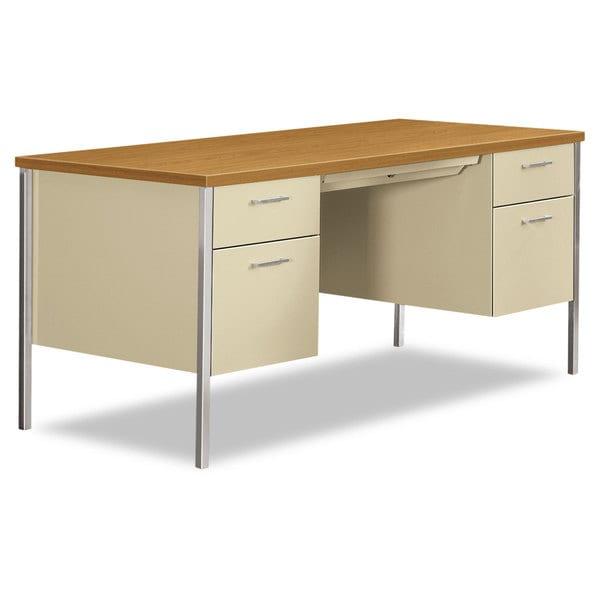 Shop Hon 34000 Series Double Pedestal Desk 60 Inch Wide X 30 Inch