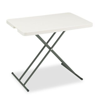Iceberg IndestrucTables Too 1200 Series Platinum 30 x 20-inch Resin Personal Folding Table