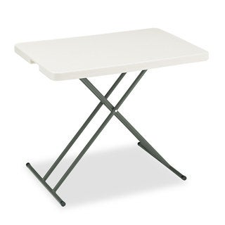 Iceberg IndestrucTables Too 1200 Series Platinum Resin Personal Folding Table
