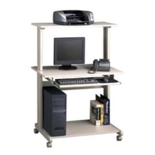 Mayline Eastwinds Charcoal Grey Multimedia Workstation Desk
