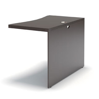 Mayline Aberdeen Curved Bridge for use with Aberdeen Credenza and Desk, sold separately