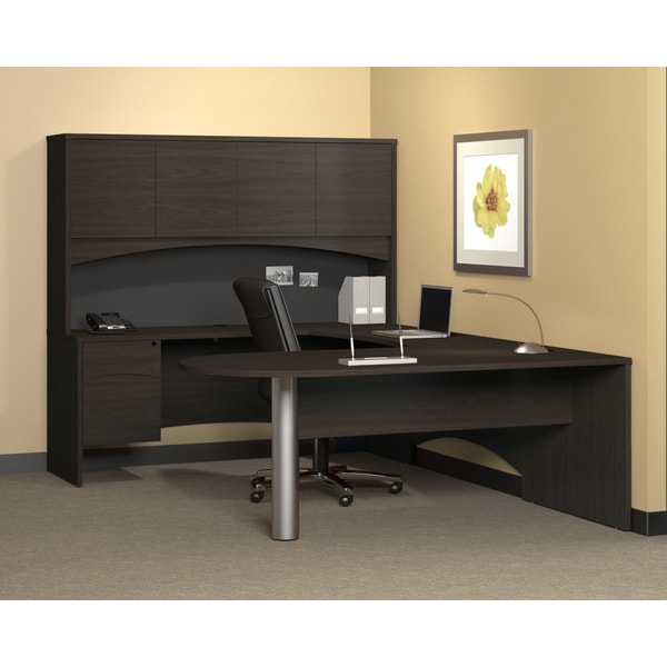 Mayline Mocha Finished Peninsula Office Desk (72 x 36)