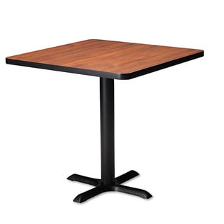Mayline Hospitality Table -inchX-inch Pedestal Base 28-inch Hig-inch high Black