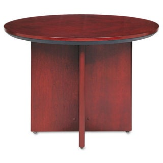Mayline Corsica Conference Series Round Table 42-diameter x 29-1/2-inch high Sierra Cherry
